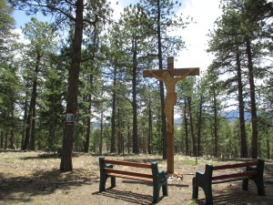 Frontier Village –prayer trail and large outdoor crucifix